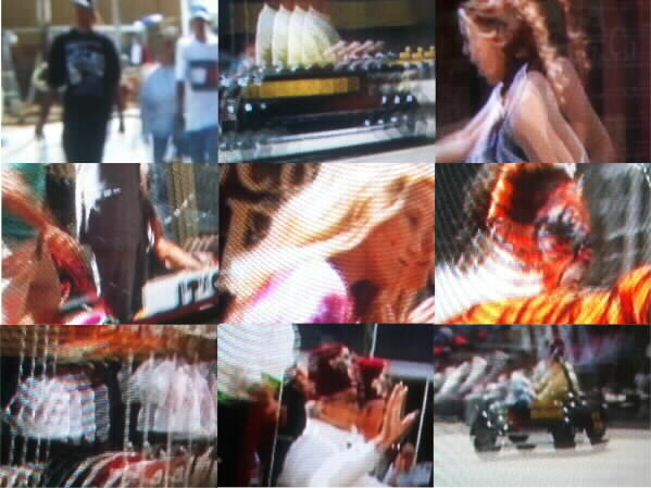 Montage of fuzzy Monorail stills